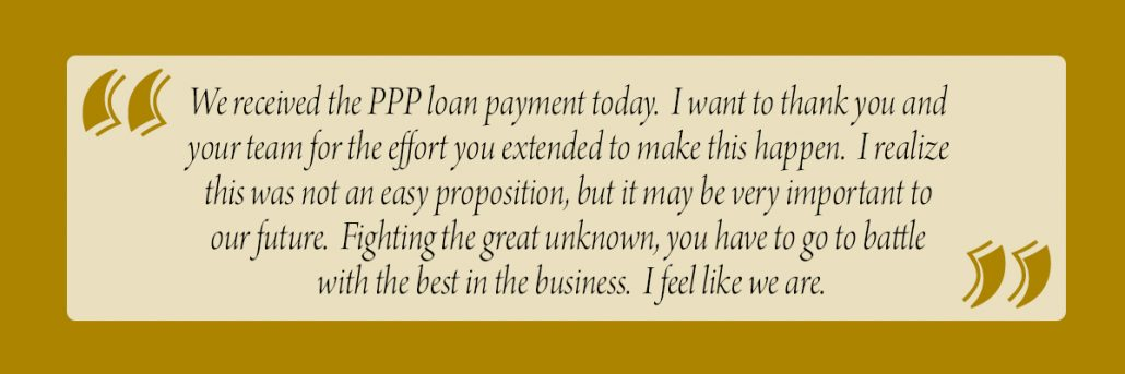Customer Paycheck Protection Program PPP Quote